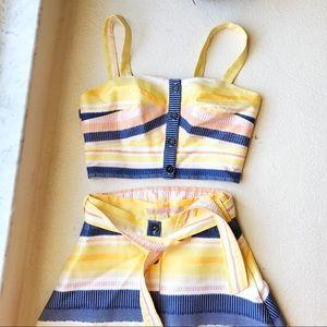 Anthropologie Dresses - Anthropologie Stripe Skirt And Top Set